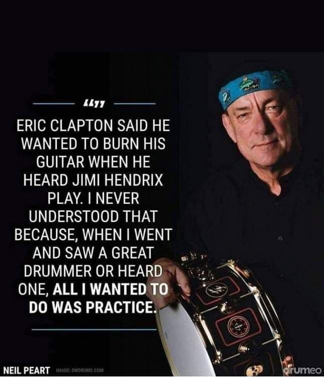 [Image] Wisdom from a master drummer