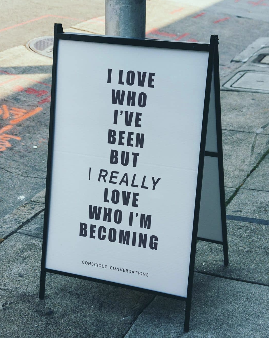 [Image] Love who you were, and love even more the person you are becoming.
