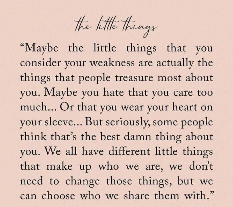 """[Image] """"The Little Things"""""""