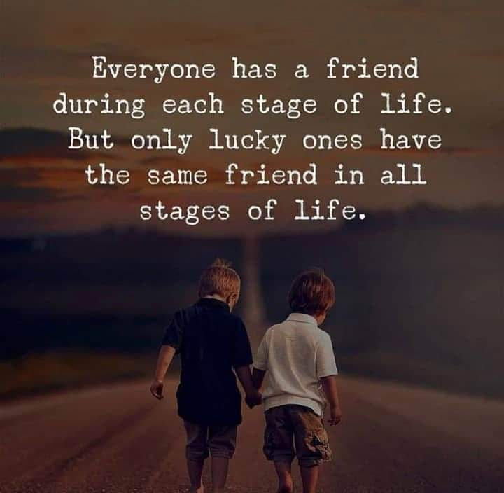 Everyone has a friend during each stage of life. But only lucky ones have the same friend in all stages of life [720×704]