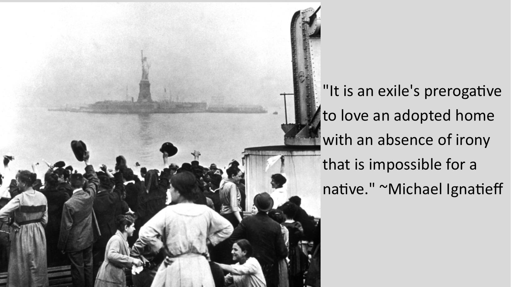 """""""It is an exile's prerogative to love an adopted home with an absence of irony that is impossible for a native."""" ~ Michael Ignatieff [1650 x 935]"""