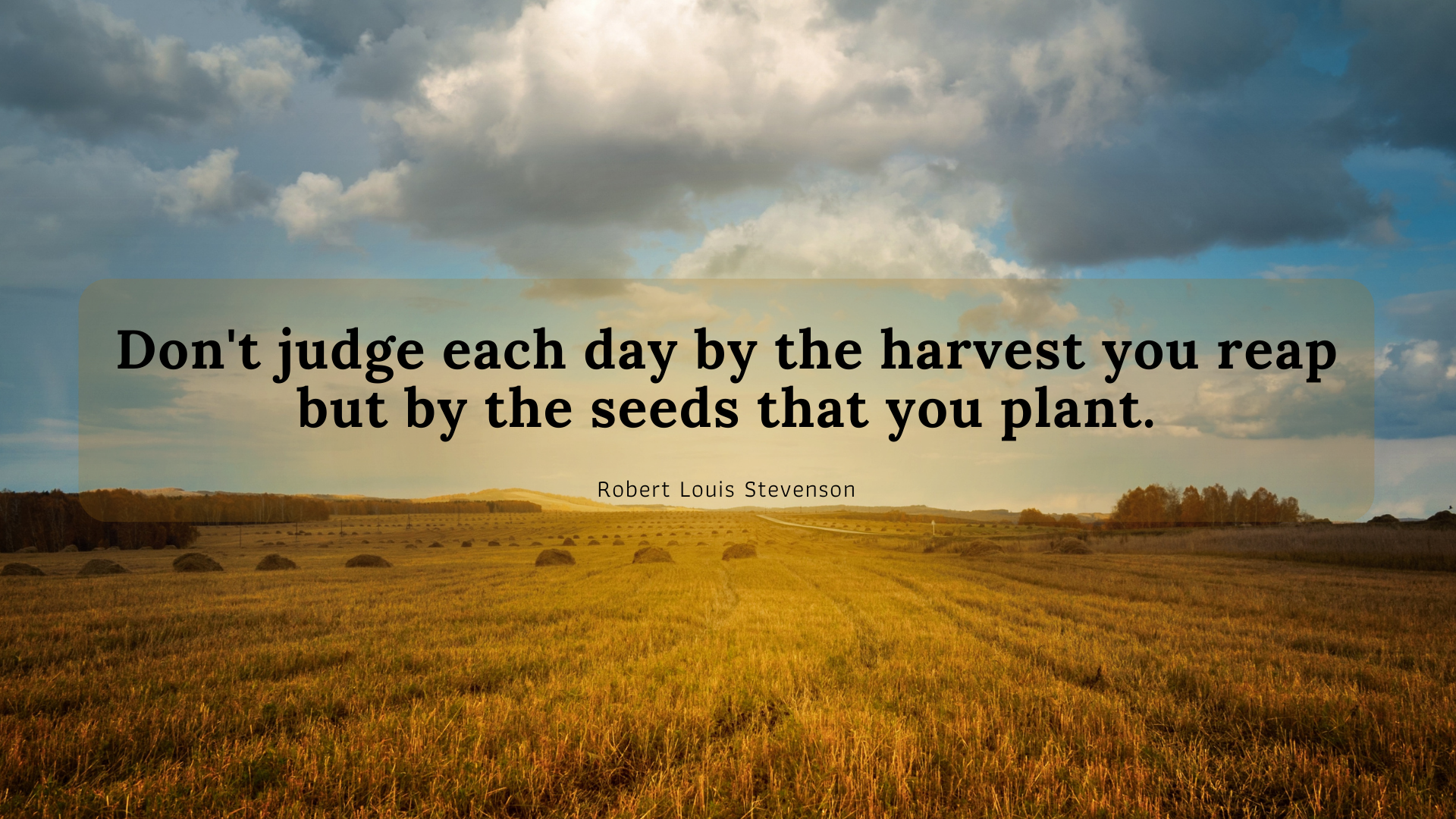 Don't judge each day by the harvest you reap but by the seeds that you plant. – Robert Louis Stevenson[1920×1080]