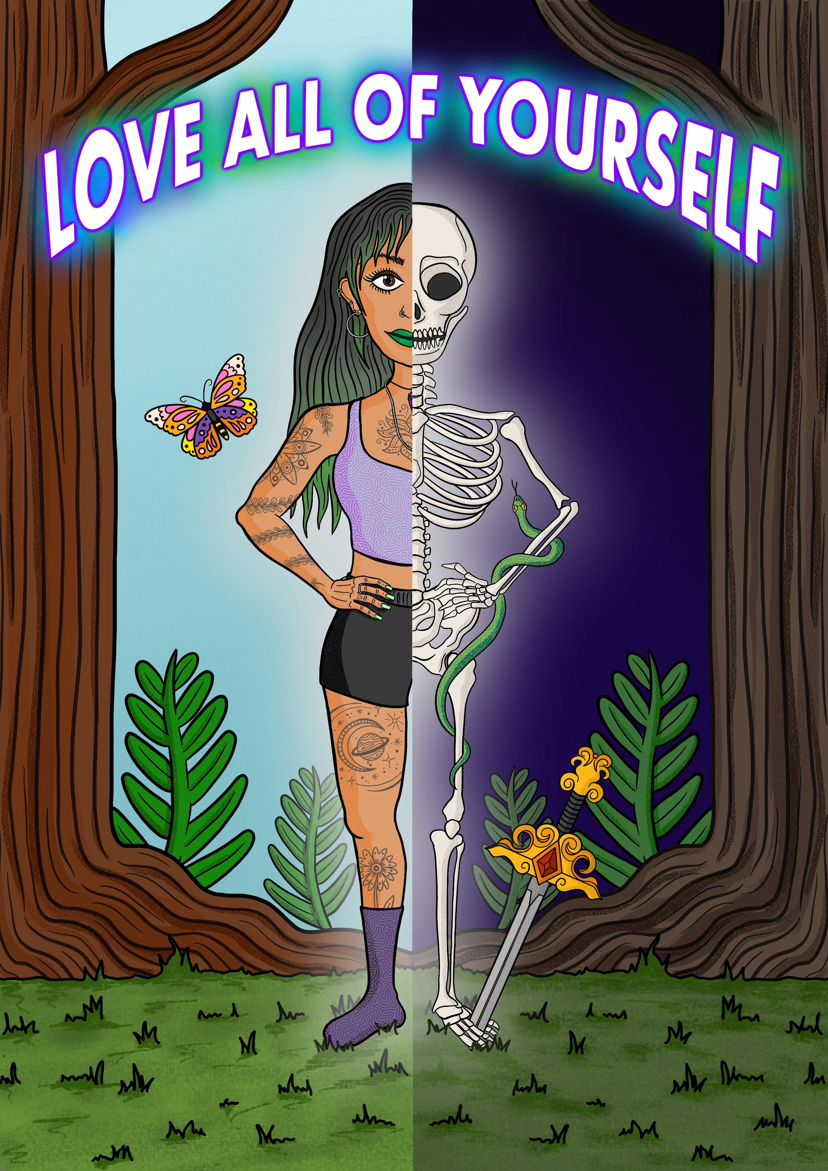 """[Image] 'Love All Of Yourself"""" – Outsides, insides, creepy bits and the rest!"""