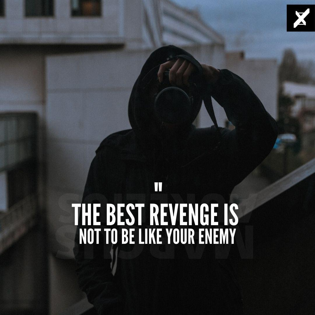 """""""The best revenge is not to be like your enemy"""" – Marcus Aurelius [1080×1080]"""