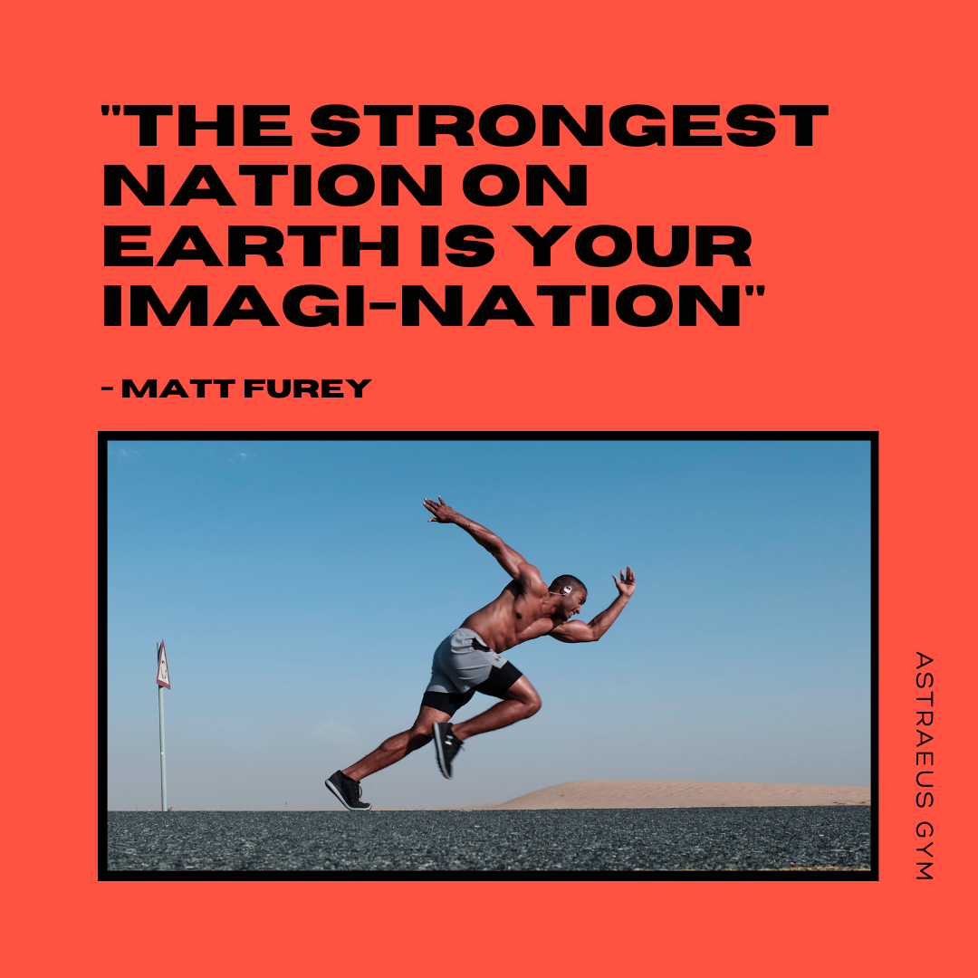 """""""The strongest nation on earth is your imagi-nation"""" – Matt Furey [1000×1000 px]"""
