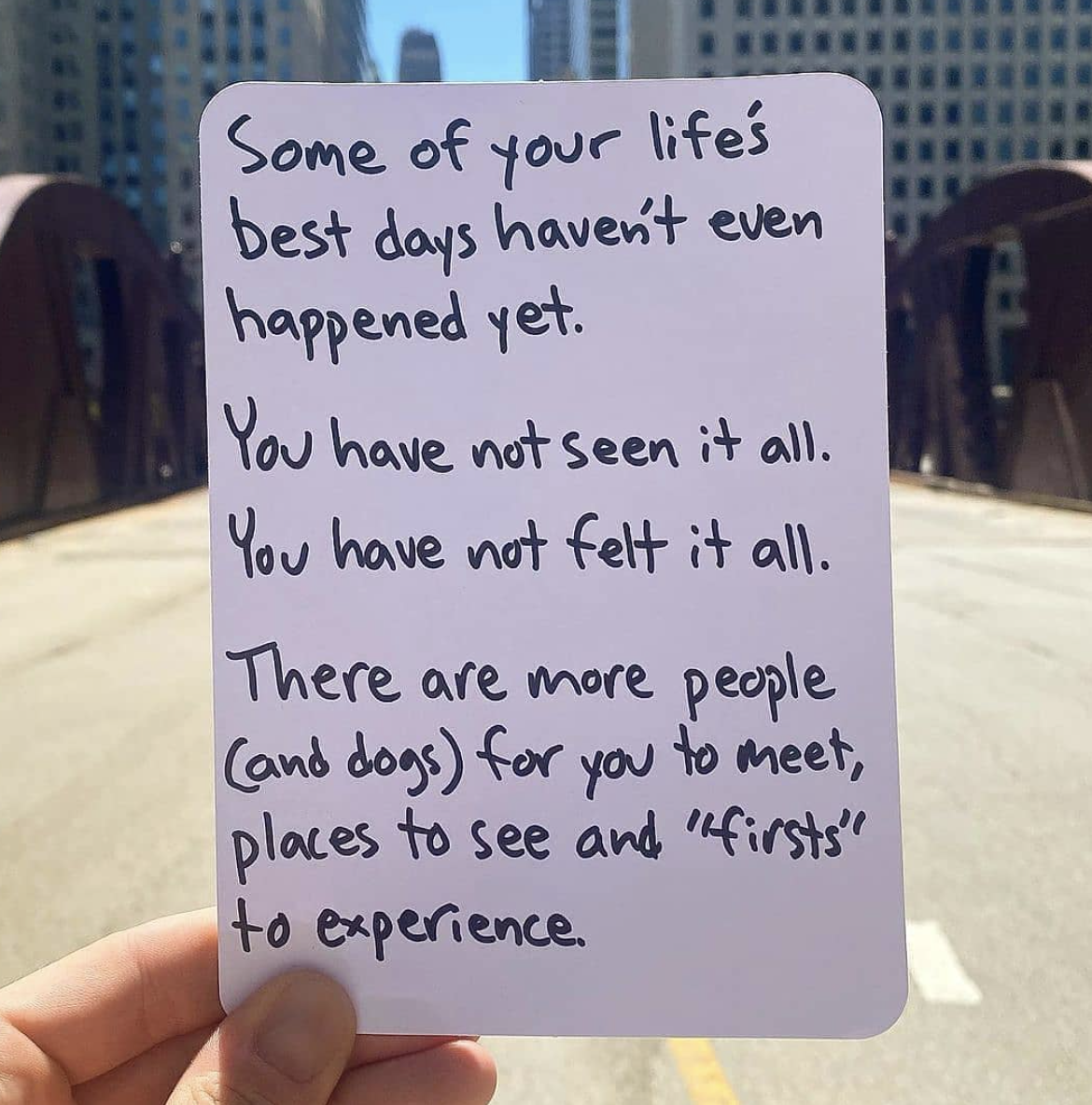 [Image] There is more to life than you can imagine. Never give up hope.