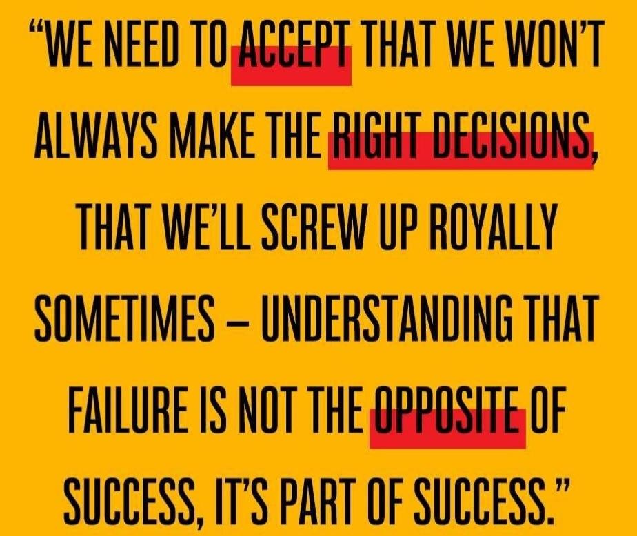 Failure is part of Success 100%