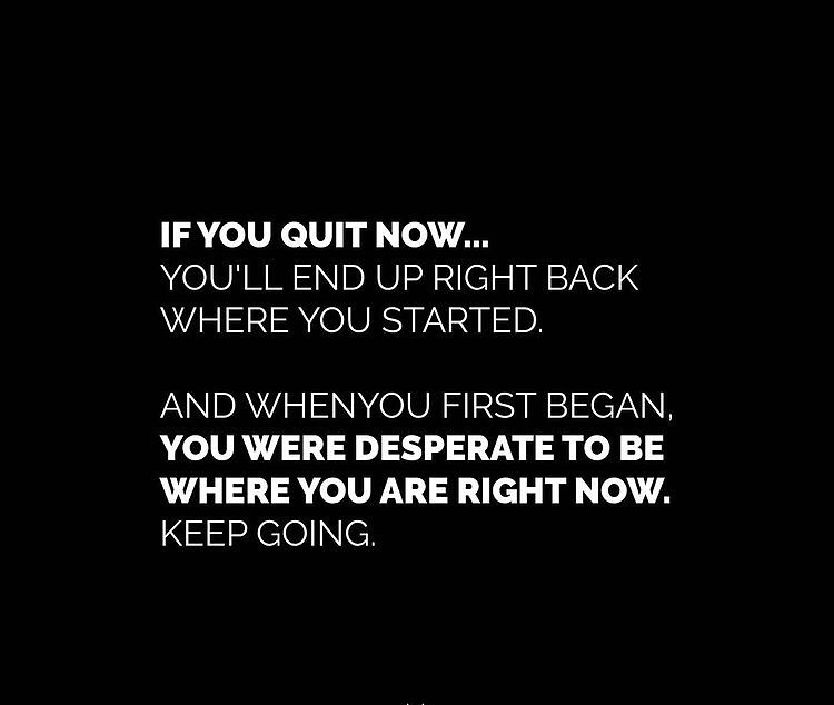 [Image] Only one advice to all my mates out there looking for a sign to keep going. Stay strong 💪