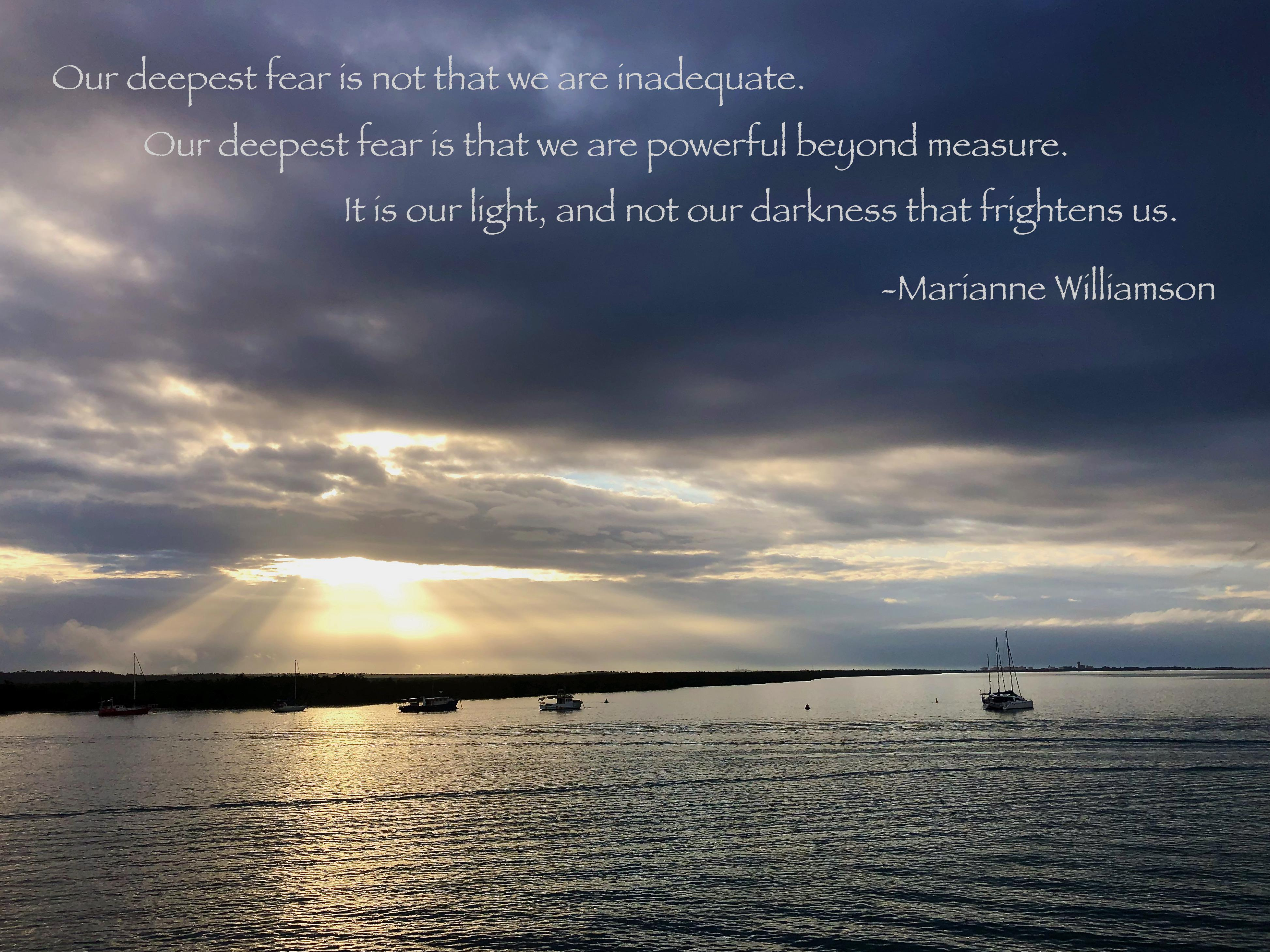 [Image] What light of yours are you frightened of? Don't let fear stop you from sharing it with the world!