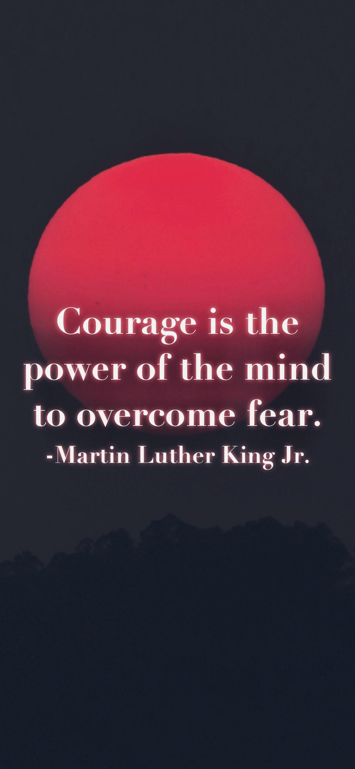 Courage is the power of the mind to overcome fear. -Martin Luther King Jr. [2532 x 1170p]