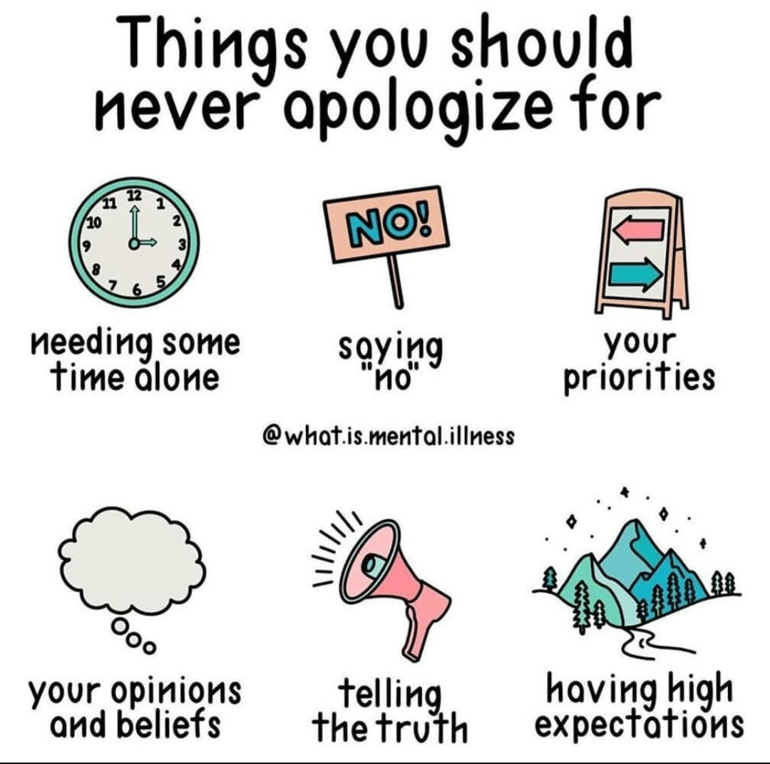 [Image] never apologize for these things! Keep moving forward and forward!