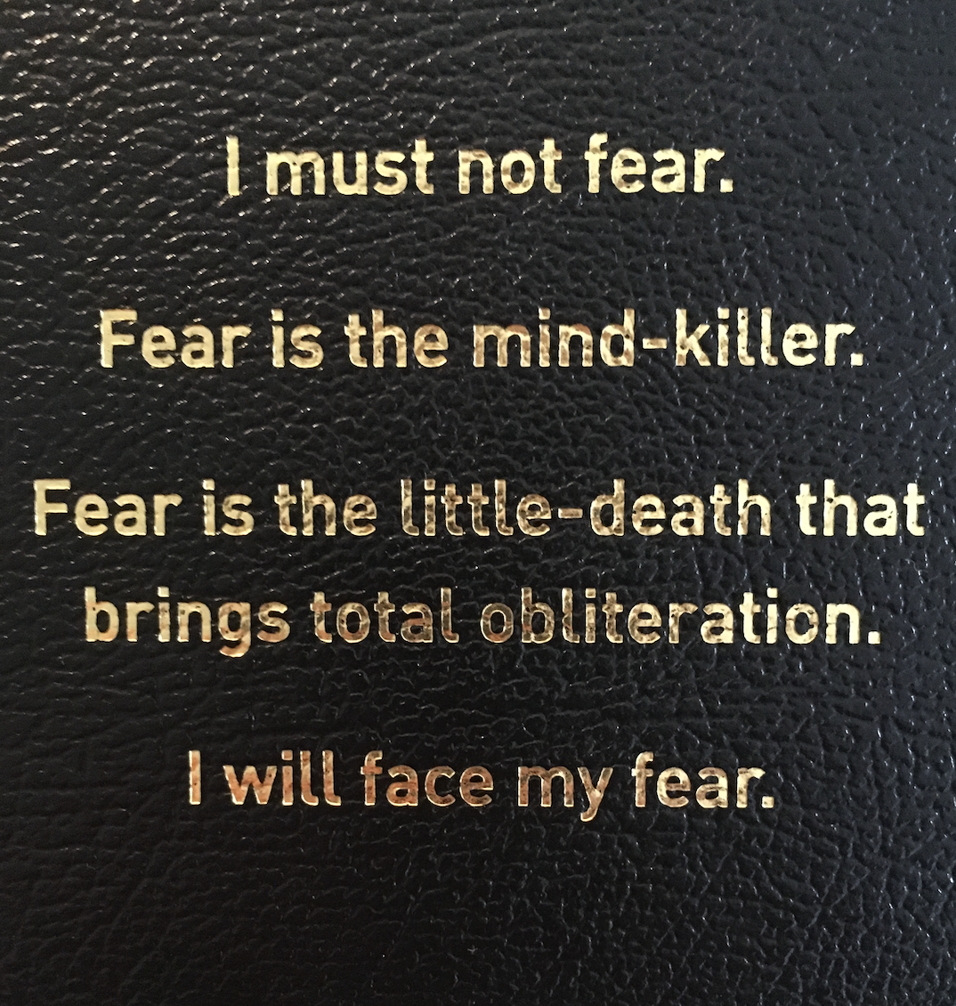 [Image] Fear is the mind-killer.