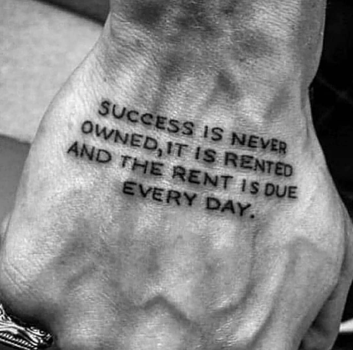[Image] Success costs you hard work, and it must be paid every day.