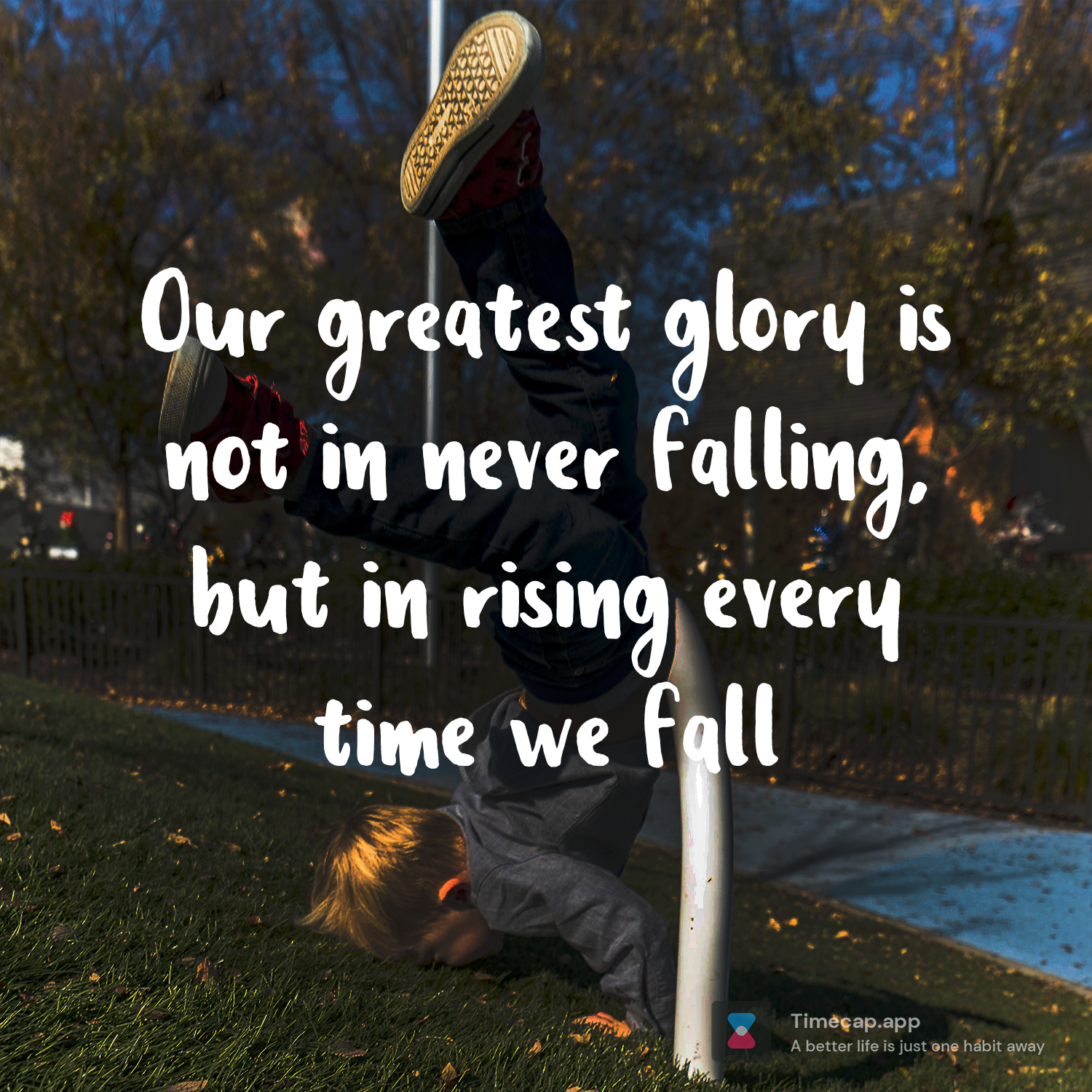 Get up and keep fighting [Image]