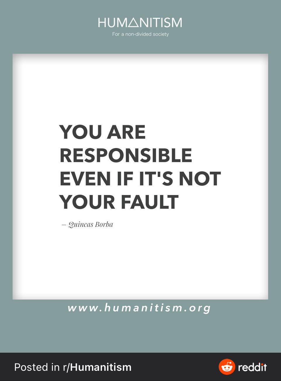 You are responsible even if it's not your fault. [962 x 1208]