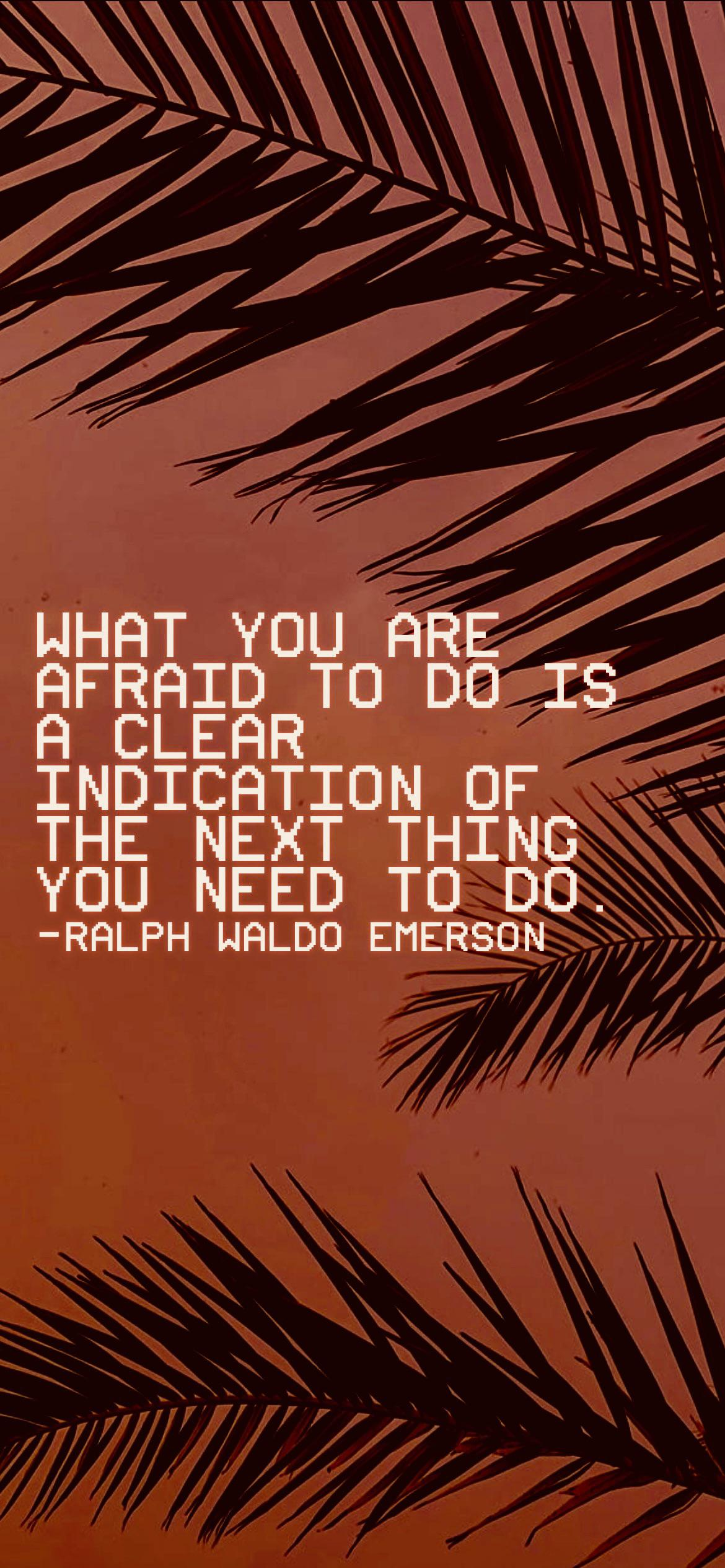 What you are afraid to do is a clear indication of the next thing you need to do. -Ralph Waldo [2532 x 1170p]