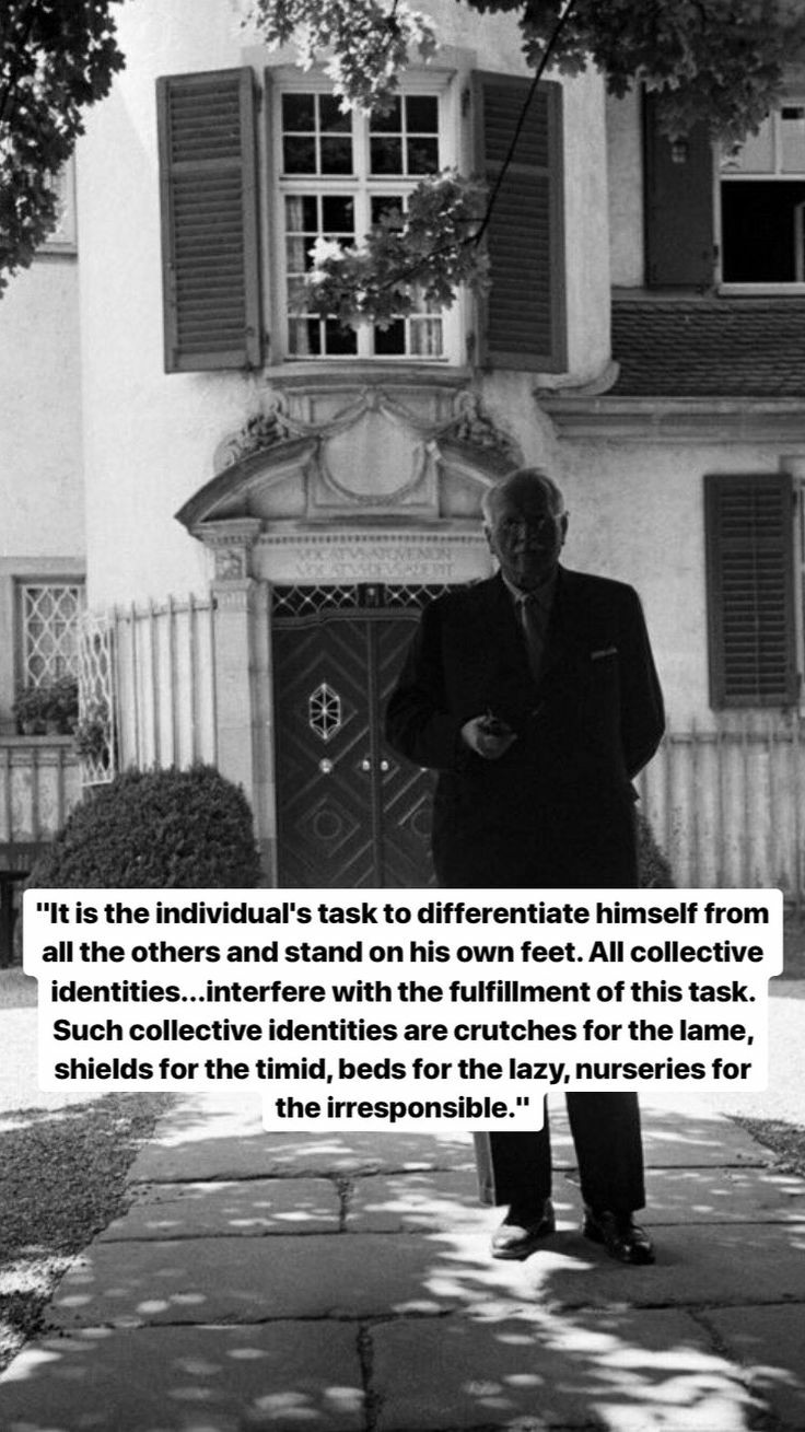 It is the individual's task to differentiate – Carl Jung [736 × 1309]