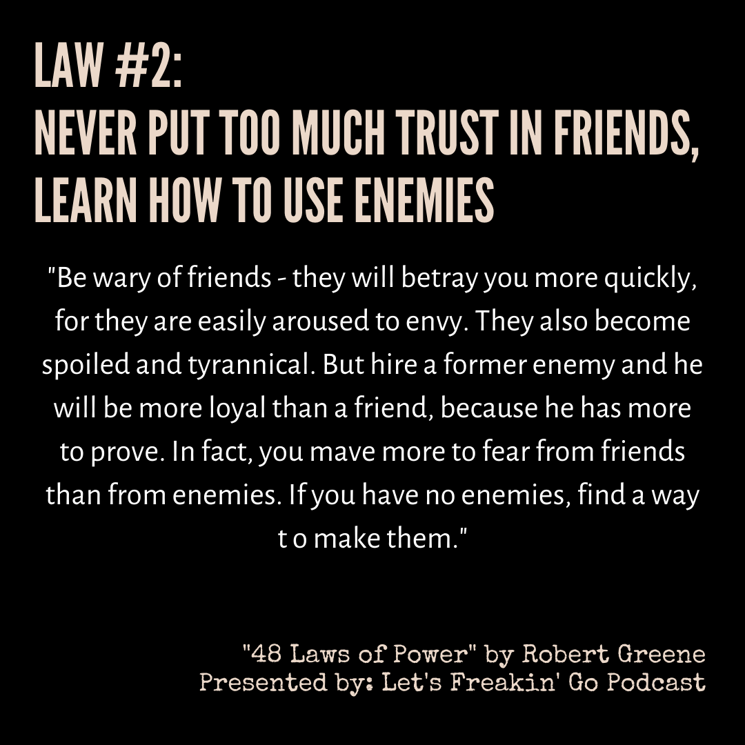 Keep your enemies closer? [image]