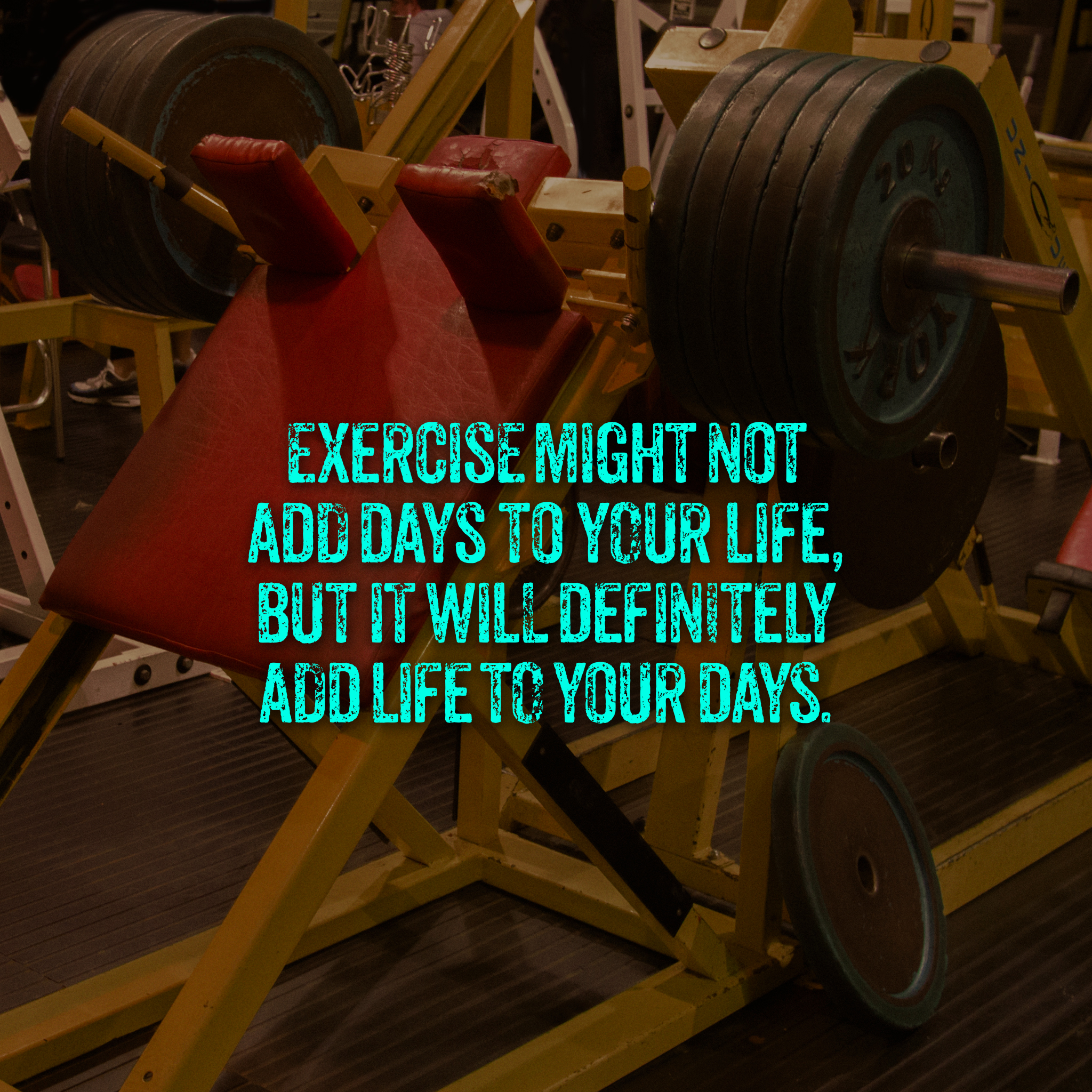 Exercise might not add days to your life, but it will definitely add life to your days. — Anon [2048×2048]