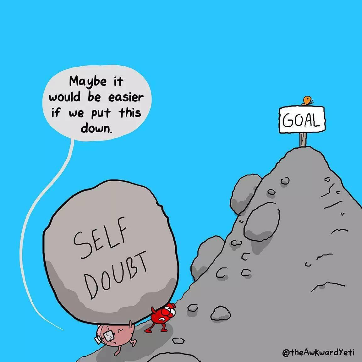 [Image] I seek strength, not to be greater than others, but to fight my greatest enemy, the doubts within myself. (Credit@theAwkwardYeti)