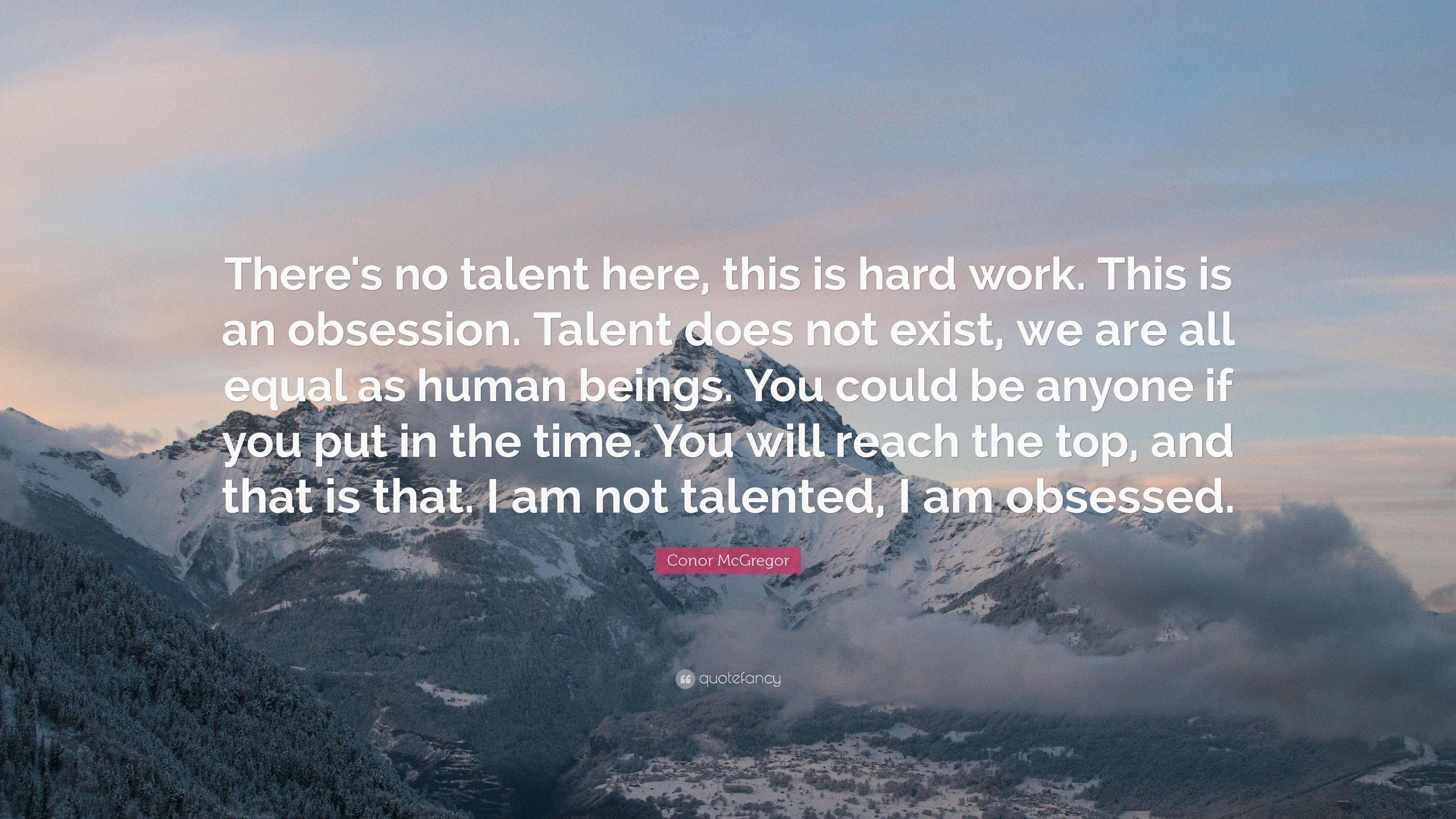 I am not talented, I am obsessed – Conor McGregor [3840 x 2160]