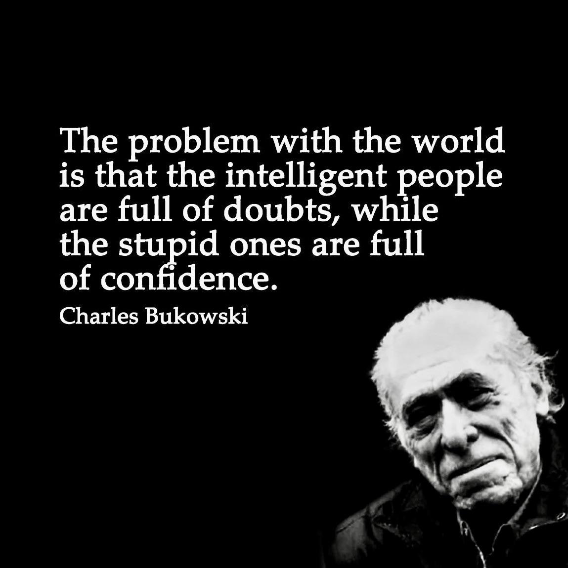 [Image] Charles Bukowski VS Bertrand Russell
