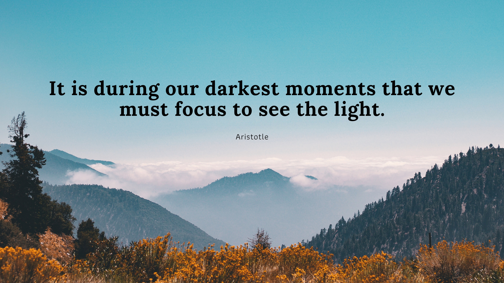 It is during our darkest moments that we must focus to see the light. -Aristotle[1920×1080]