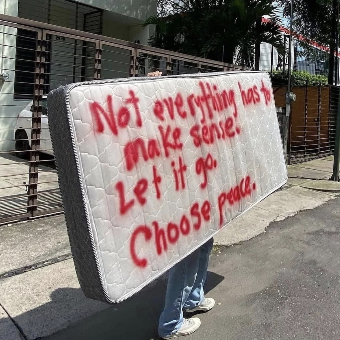 [Image] Not everything has to make sense. Let it go. Choose peace.