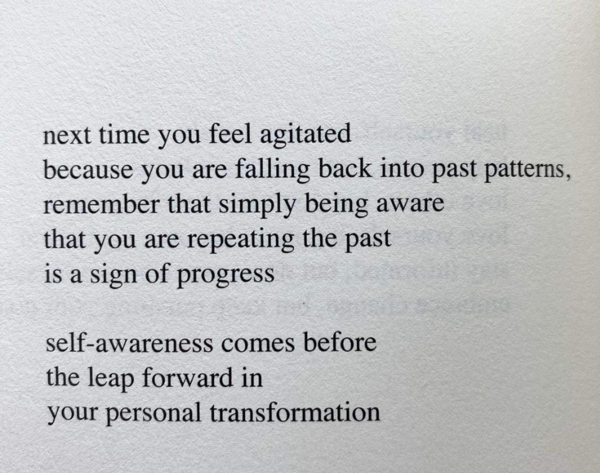 [Image] realizing your past pattern and your mistakes is half the battle