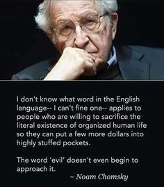 """""""The word evil doesn't even begin to describe it"""" Noam Chomsky [236 x 269]"""