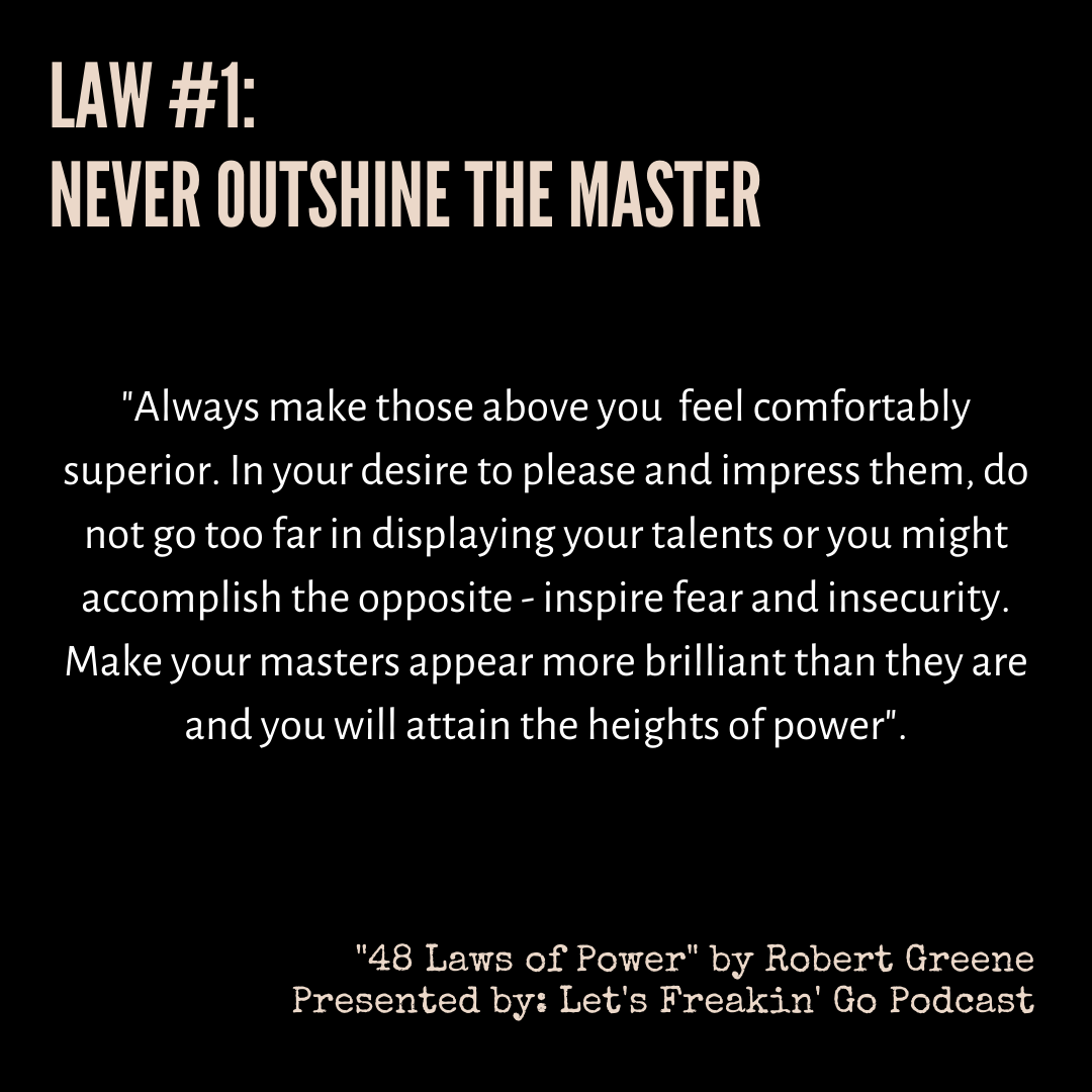 Never Outshine The Master [image]