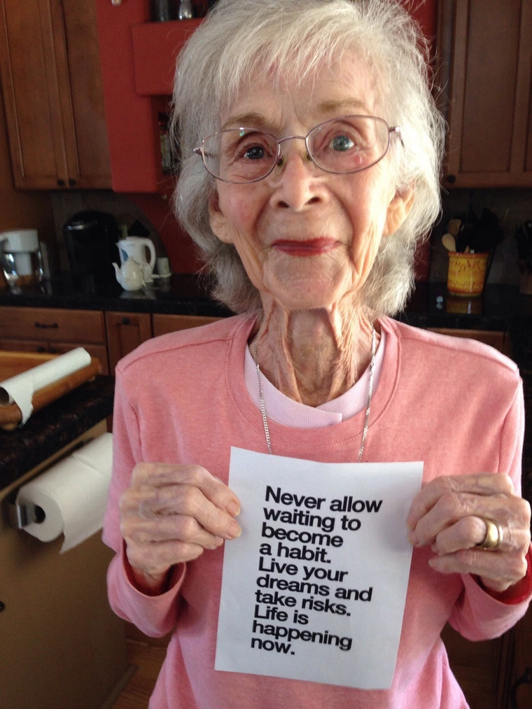 [Image] great grandma just turned 97. She wanted to print this out for her.