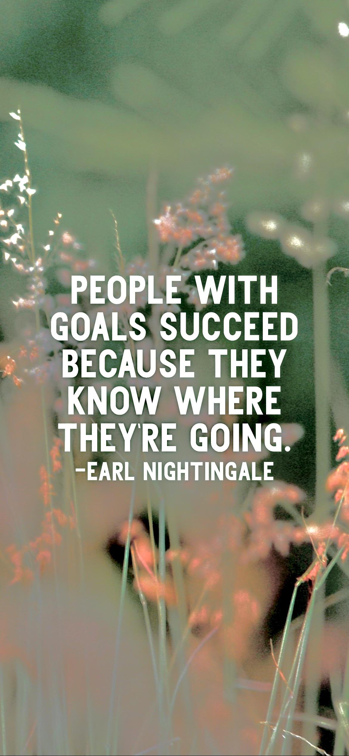 People with goals succeed because they know where they're going. -Earl Nightingale [2532 x 1170p]