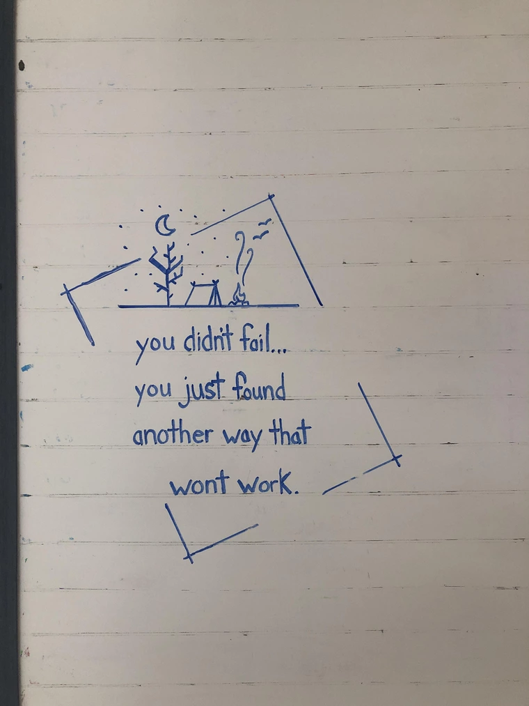 [Image] Friend sent me this to deal with my low, so I drew it on my white board