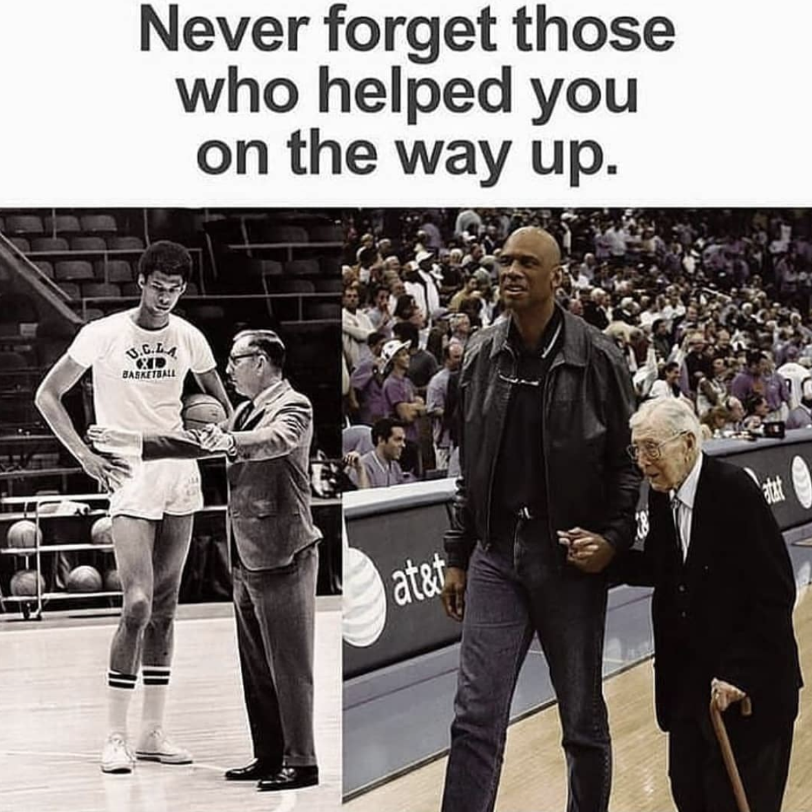 [Image] Always remember the people who helped you, no matter how successful you are.