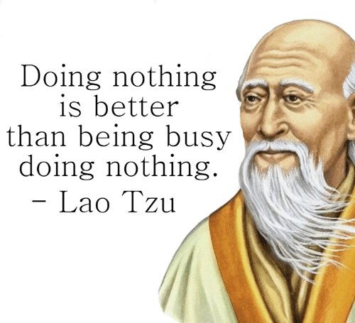 Doing nothing is better than being busy doing nothing. ~ Lao Tzu. [ 500 × 445 ]