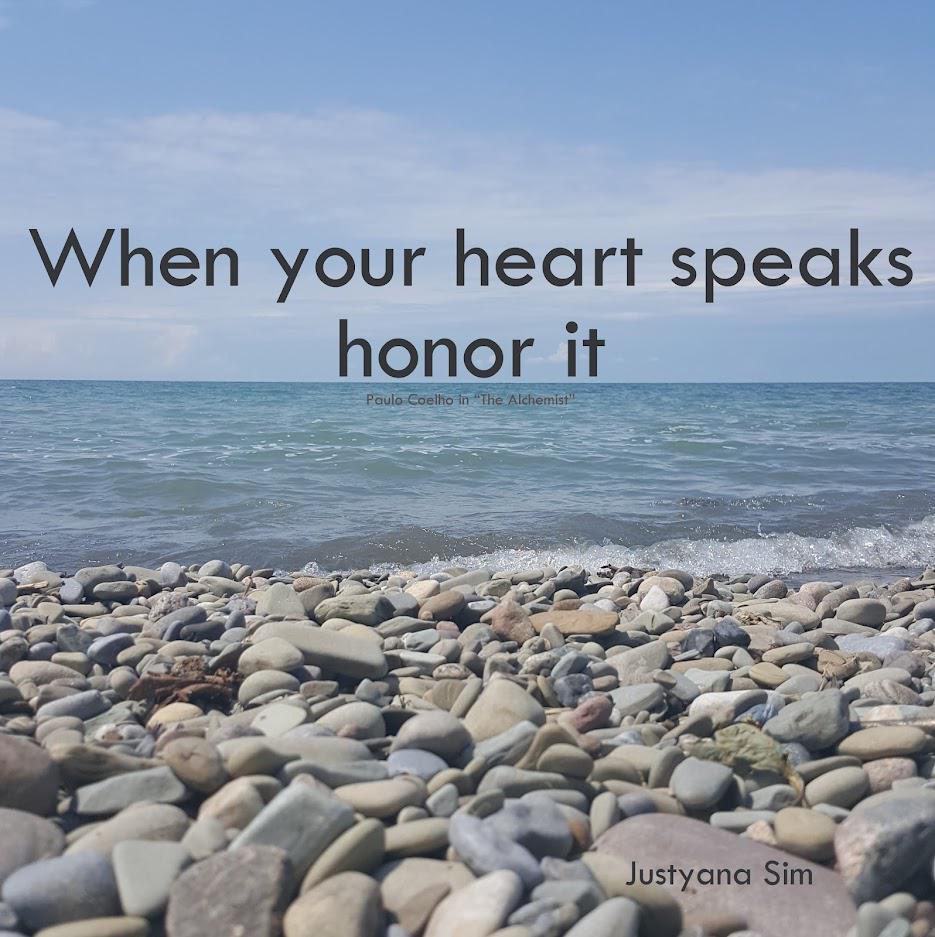 When Your Heart Speaks Honor It by Paulo Coelho [935×937]