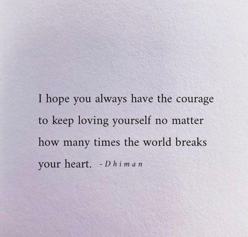 [IMAGE] Courage to love oneself.