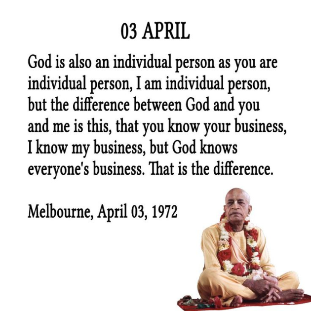 """""""God is also an individual person as you are individual person…"""" – Srila Prabhupada [630×630]"""