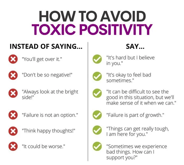 [Image] How To Avoid Toxic Positivity