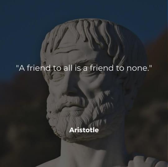 [Image] A Friend to all is a friend to none.