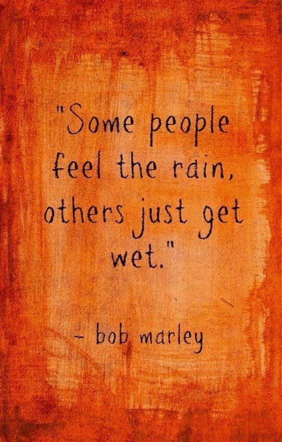 """""""Some people feel the rain, others just get wet.""""-Bob Marley [564×884]"""