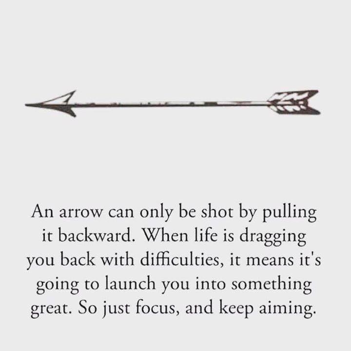 [Image] If you feel struggling – remember the arrow. Narrow your target, get clear on the vision and focus on the goal. You've got this! 💪