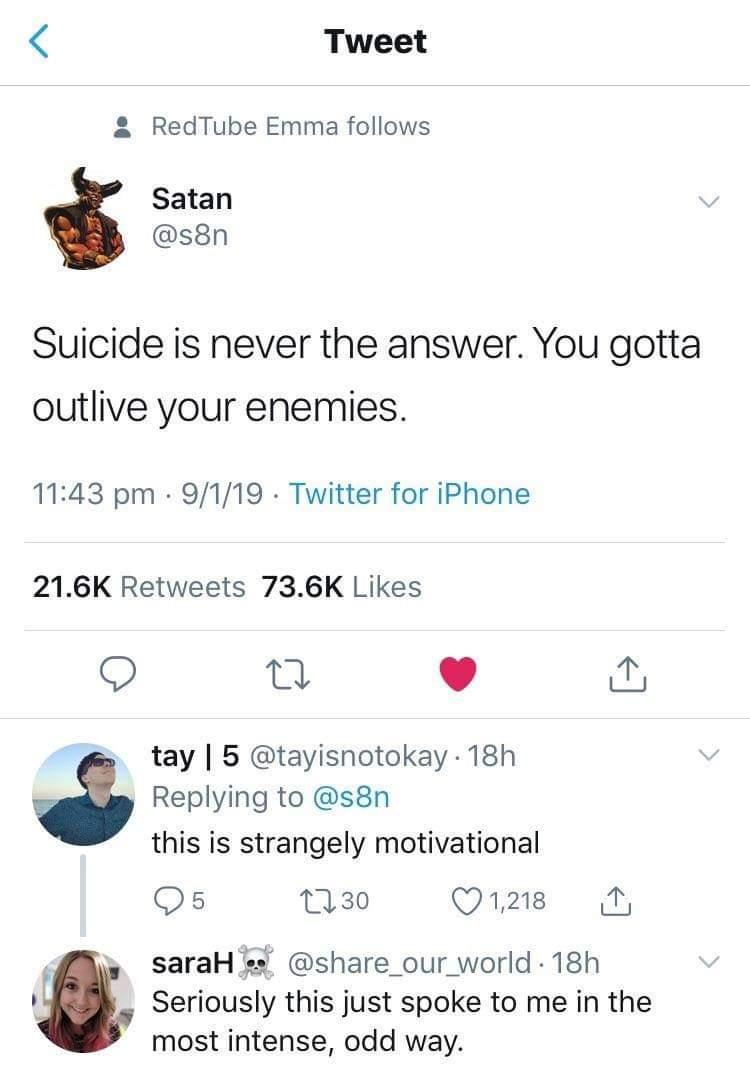 [Image] Thanks, Satan