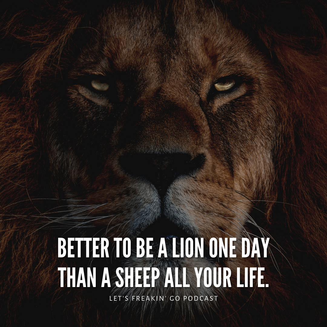 BETTER T0 BE A LlflN 0N'E DAY THAN A SHEEP All YOUR https://inspirational.ly