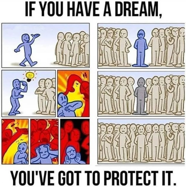 IF YOU HAVE A DREAM, Vou VE GOT TO PROTECT IT. https://inspirational.ly
