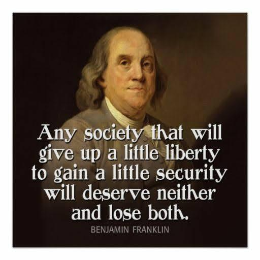 X Any Society That Will Give Up A Little Liberty To Gain A Little Security Will Deserve Neither And Lose Both. https://inspirational.ly